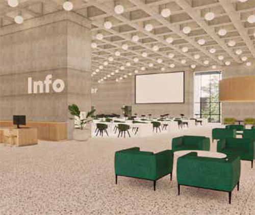 Rendering of the D.B. Weldon Library renovations