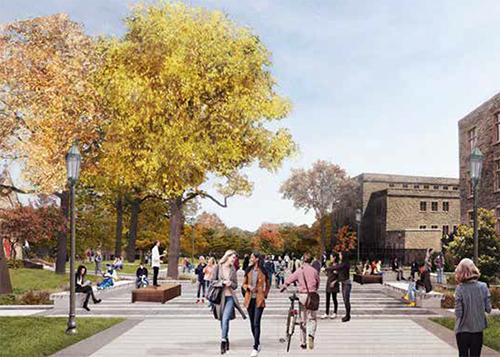 Rendering of open space renovations