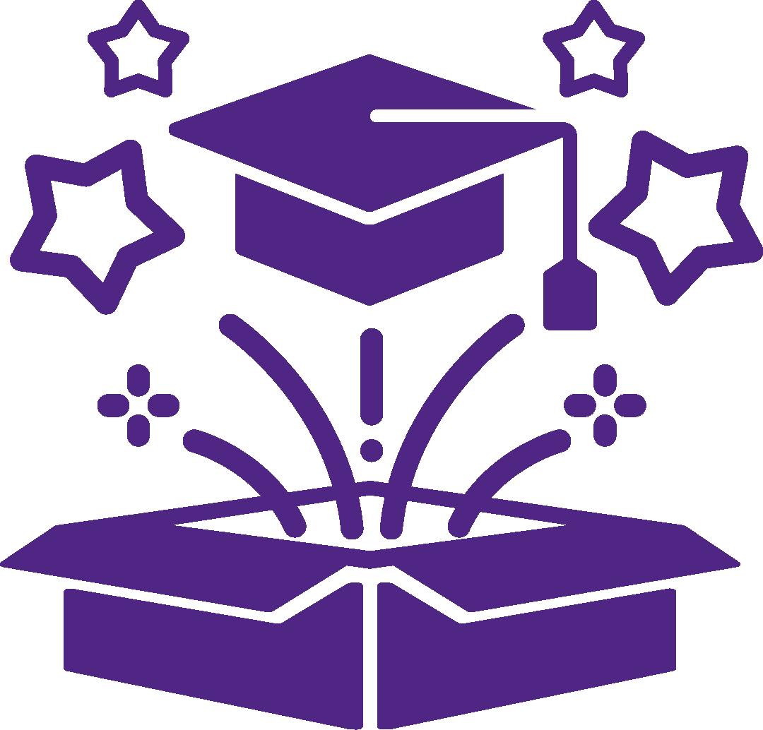 Grad Box Icon